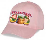 Уникальная в своем роде молодежная кепка с новым авторским принтом «Russia» Матрешки в бане. Успейте порадовать модным аксессуаром Ваших друзей