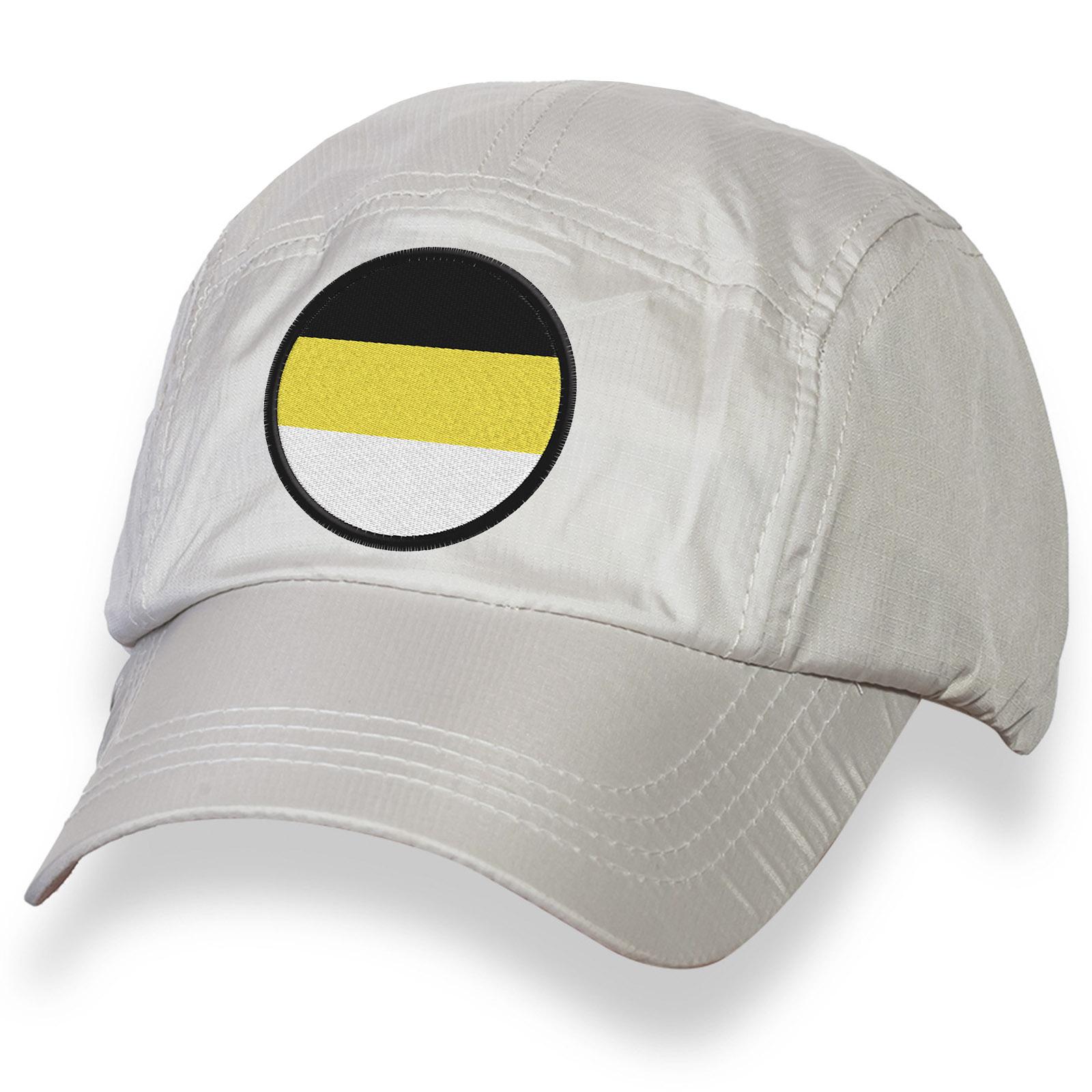 Белая унисекс бейсболка с вышитым Имперским флагом.