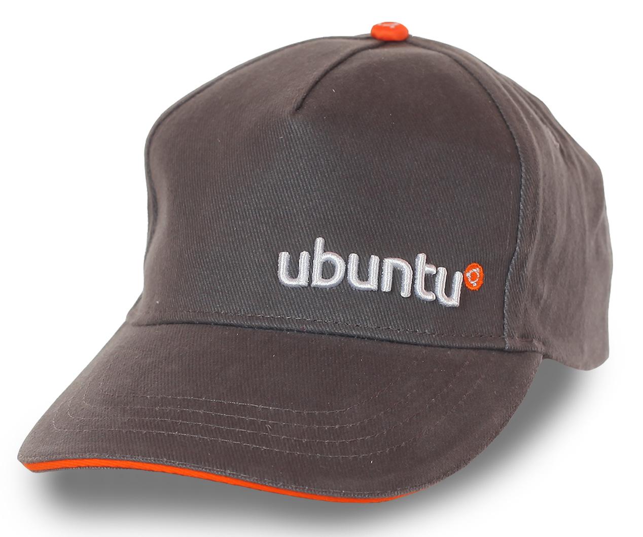 Стильная унисекс бейсболка Ubuntu. Модель для тех, кто оценил преимущества простой, но рабочей операционные системы. ОС могут быть бесплатными!