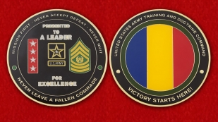 United States Army Trainingb and Doctrine Command Challenge Coin - obverse and reverse