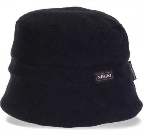 Универсальная флисовая шапка - шляпка Nikko утепленная флисом. Актуальная в этом сезоне молодежная современная модель