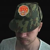 Универсальная камо кепка с вышитым шевроном Рожден в СССР