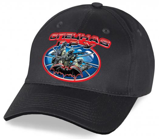 Универсальная кепка с принтом символа «Спецназа ГРУ» летучей мышью для наших мужчин. Дизайнерская модель лучшего качества