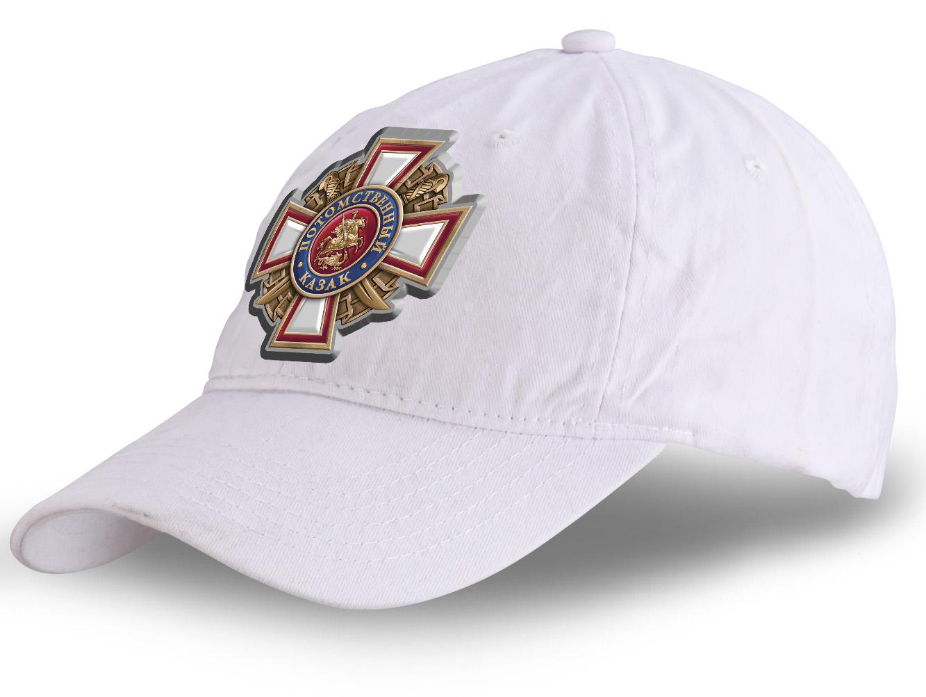 """Универсальная кепка с термотрансфером """"Потомственный казак"""""""