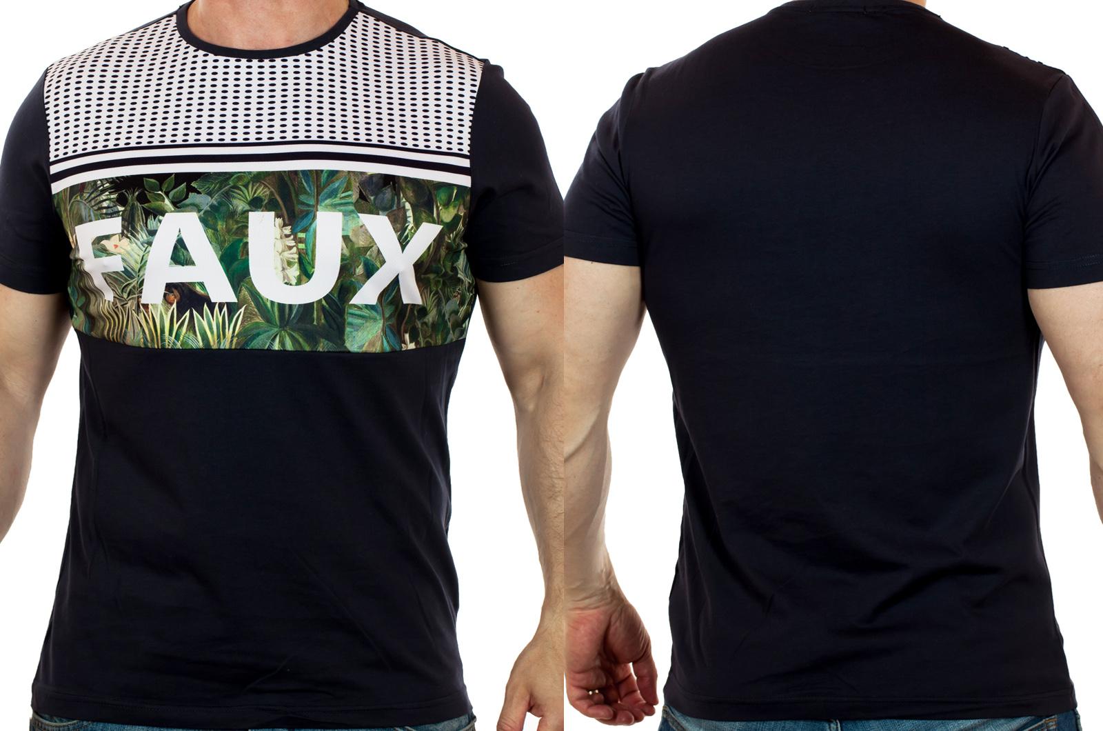 Универсальная мужская футболка SPLASH с горизонтальными полосами – классика стиля
