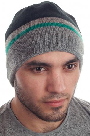 Универсальная мужская шапка СК почитателям спорта на природе с флисом
