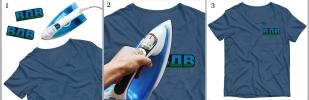 Купить универсальную нашивку ВДВ на футболке