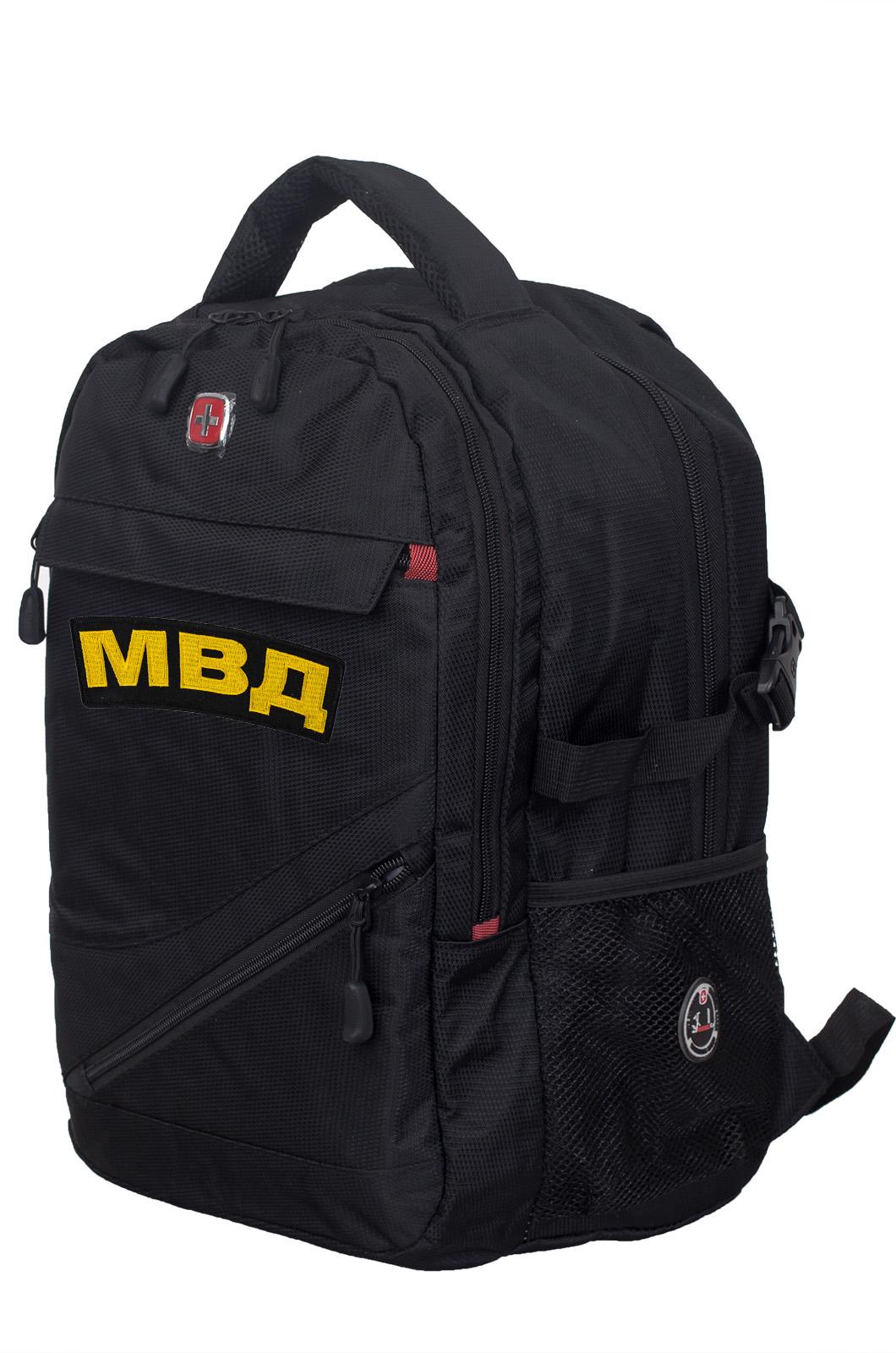 Универсальный черный ранец-рюкзак МВД - заказать с доставкой