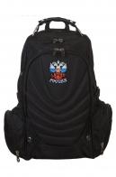 Купить универсальный черный рюкзак гербом России