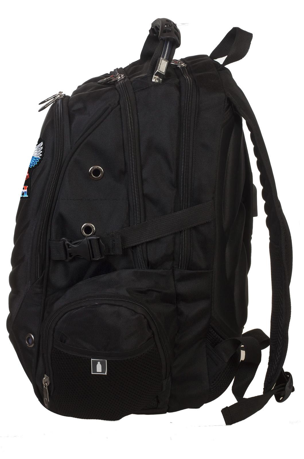 Универсальный черный рюкзак гербом России купить онлайн