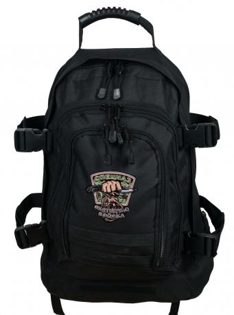 Универсальный черный рюкзак с эмблемой Охотничьего спецназа