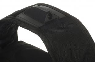 Универсальный черный рюкзак с Гербом России купить выгодно