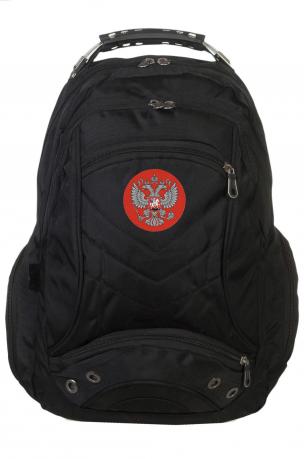 Универсальный черный рюкзак с Гербом России