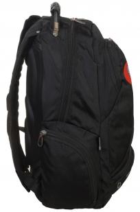 Универсальный черный рюкзак с Гербом России купить оптом