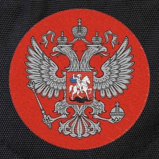 Универсальный черный рюкзак с Гербом России купить по экономичной цене