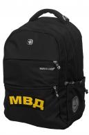 Универсальный черный рюкзак с нашивкой МВД