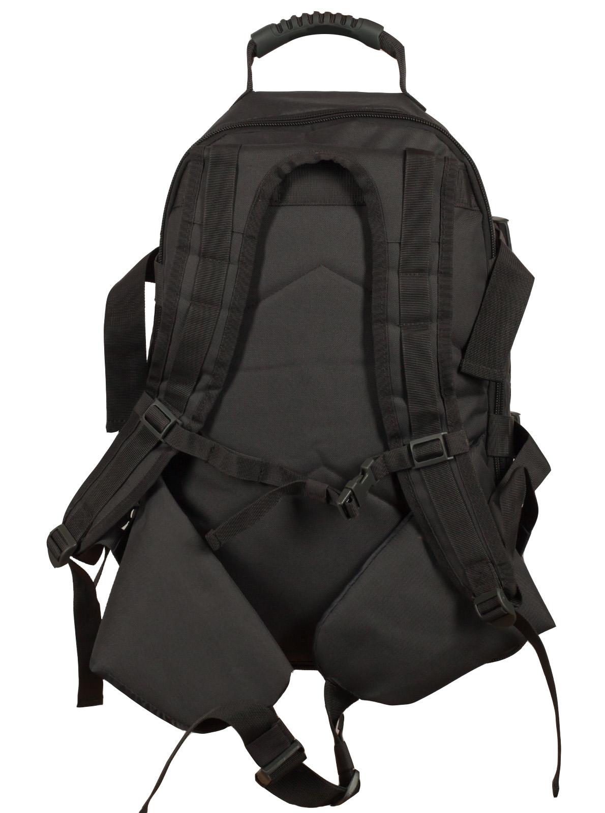 Универсальный черный рюкзак с нашивкой Погранслужбы - заказать в розницу