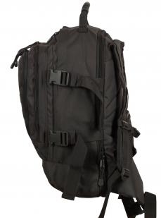 Универсальный черный рюкзак с нашивкой Погранслужбы - купить оптом