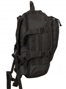 Универсальный черный рюкзак с нашивкой Погранслужбы - заказать оптом