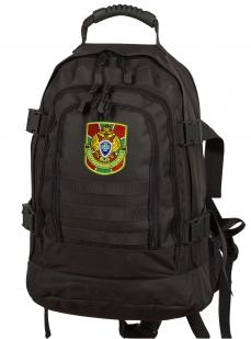 Универсальный черный рюкзак с нашивкой Погранслужбы - купить в розницу