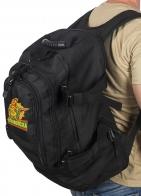 Универсальный черный рюкзак с нашивкой Погранвойск - купить онлайн