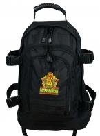Универсальный черный рюкзак с нашивкой Погранвойск - заказать в розницу