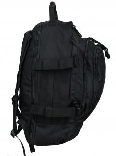 Универсальный черный рюкзак с нашивкой Потомственный Казак - заказать онлайн