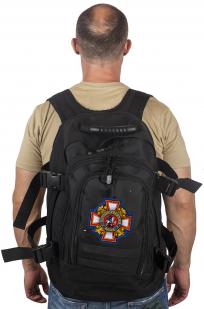 Универсальный черный рюкзак с нашивкой Потомственный Казак - купить с доставкой