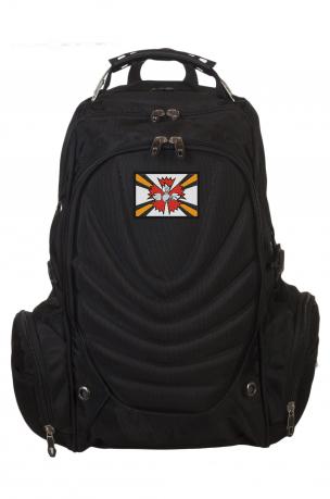 Универсальный черный рюкзак с нашивкой РВиА РФ