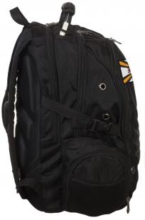 Универсальный черный рюкзак с нашивкой РВиА РФ - купить оптом