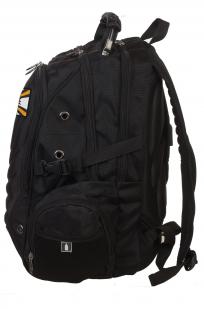 Универсальный черный рюкзак с нашивкой РВиА РФ - купить с доставкой