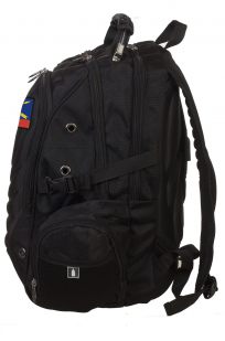 Универсальный черный рюкзак с нашивкой РВСН - купить с доставкой