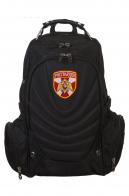 Купить универсальный черный рюкзак с шевроном Росгвардии