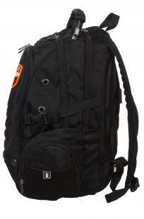 Универсальный черный рюкзак с шевроном Росгвардии купить выгодно