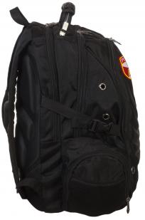 Универсальный черный рюкзак с шевроном Росгвардии купить в подарок