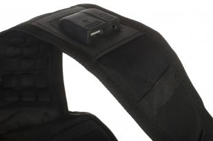 Универсальный черный рюкзак с шевроном Росгвардии купить с доставкой
