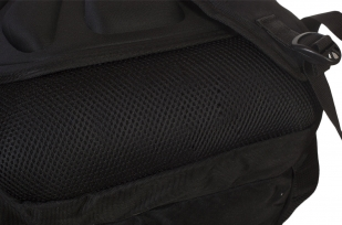 Универсальный черный рюкзак с шевроном Росгвардии купить оптом