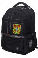 Универсальный черный рюкзак с военной нашивкой