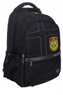 Универсальный черный рюкзак с военной нашивкой - купить оптом