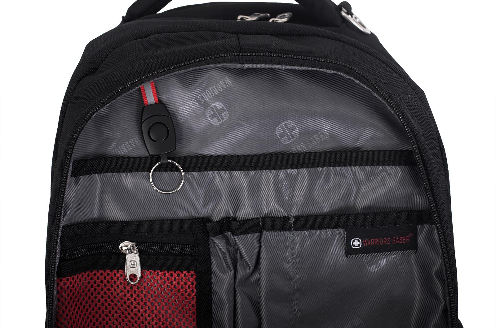 Универсальный черный рюкзак с военной нашивкой - заказать онлайн