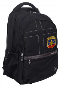 Универсальный черный рюкзак с военной нашивкой РВСН - заказать оптом