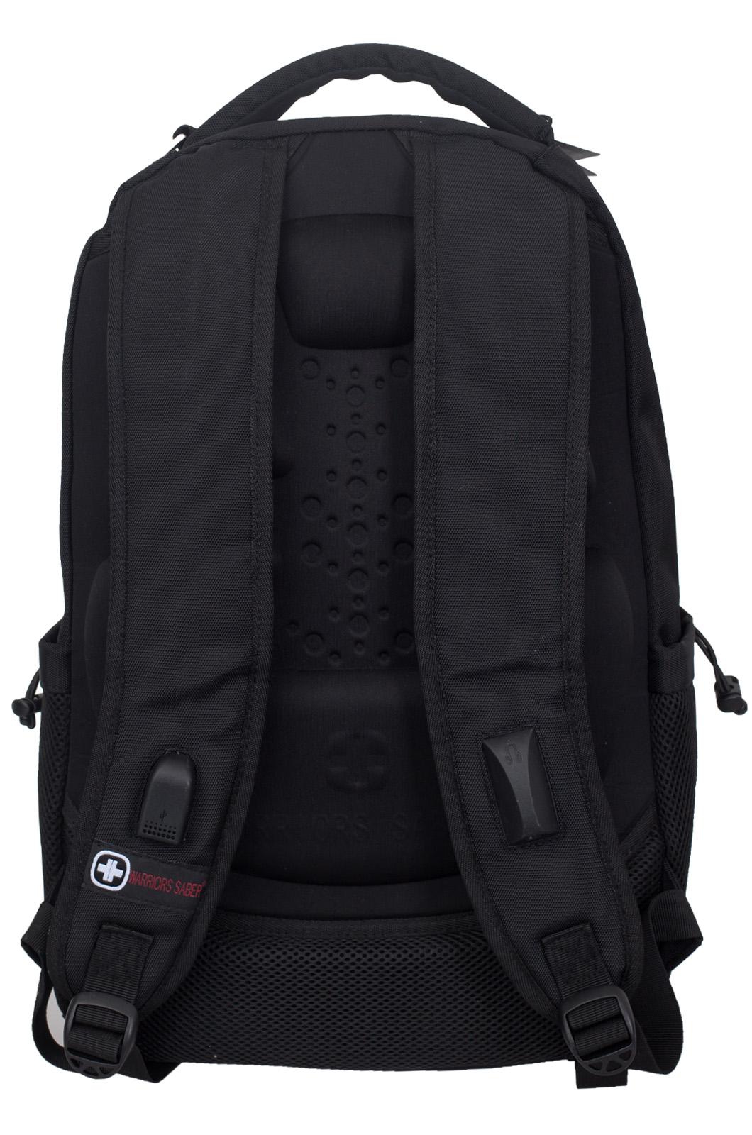 Универсальный черный рюкзак с военной нашивкой РВСН - заказать с доставкой