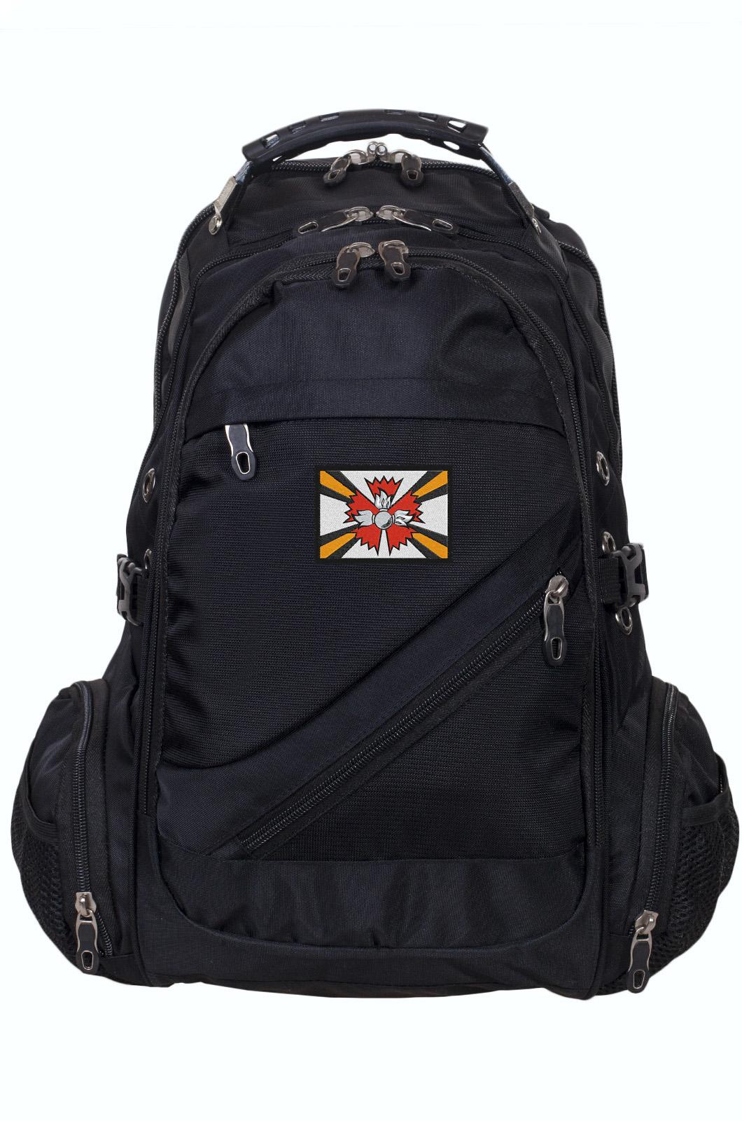 Мужской городской рюкзак с шевроном РВиА