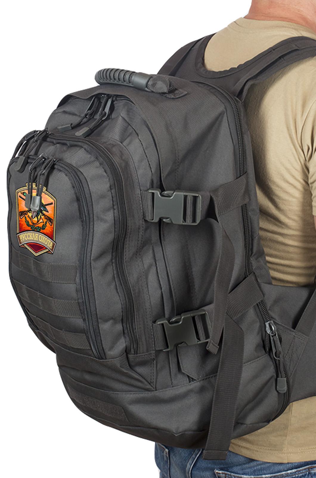 Универсальный крутой рюкзак с нашивкой Русская Охота