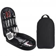 Универсальный походный столовый набор 9-в-1 в сумке-органайзере