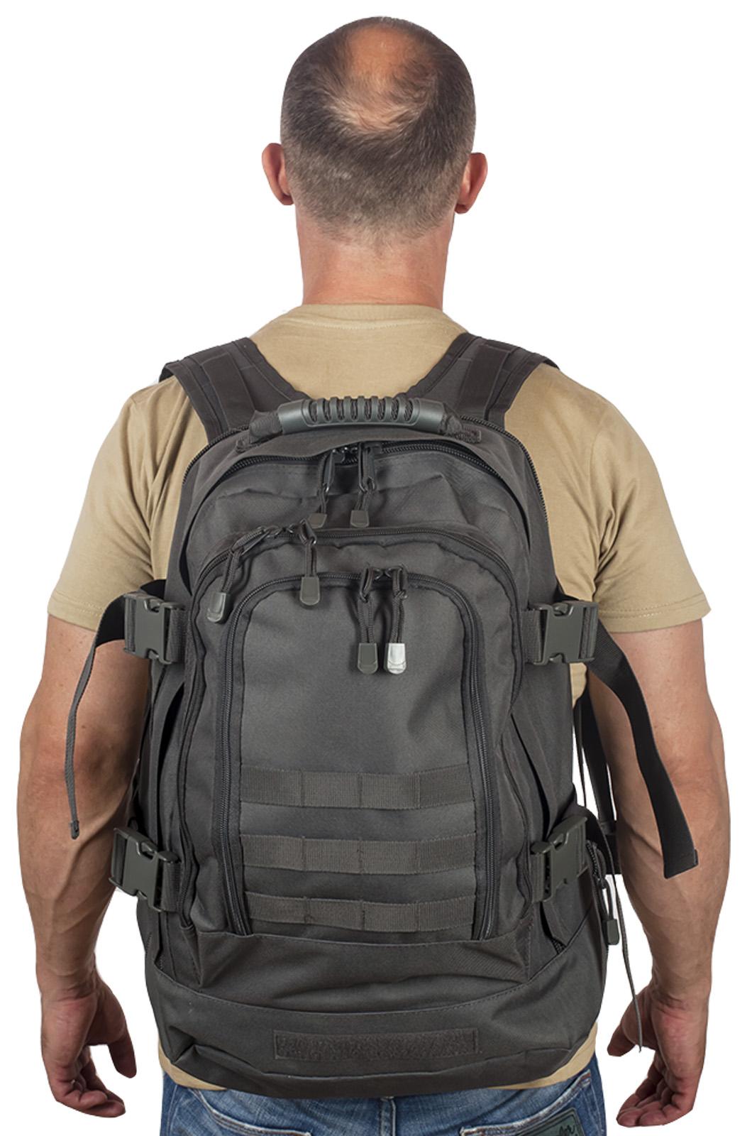 Купить универсальный рюкзак для города и полевых выходов 3-Day Expandable Backpack 08002A Dark Grey