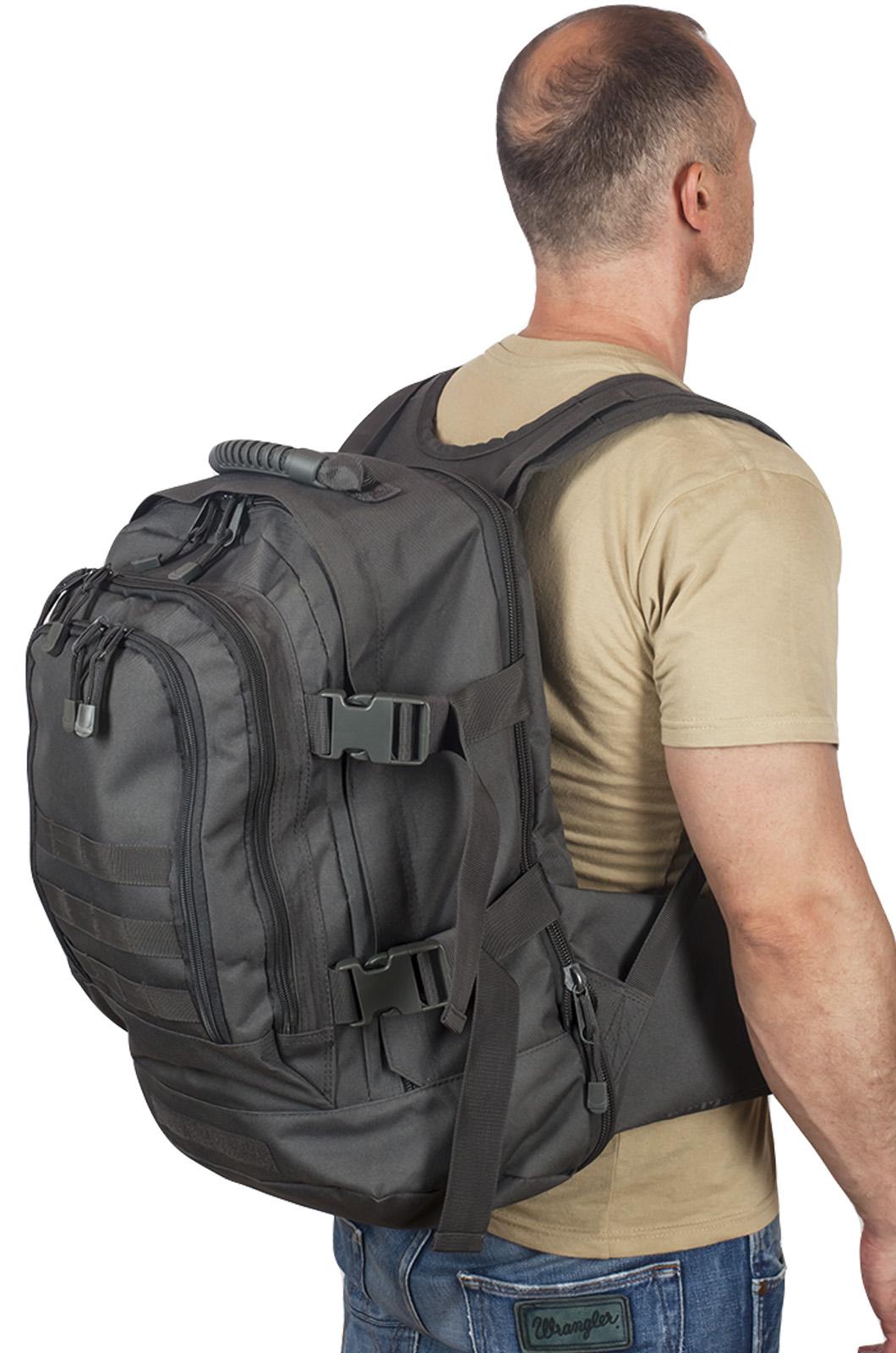 Универсальный рюкзак для города и полевых выходов 3-Day Expandable Backpack 08002A Dark Grey высокого качества