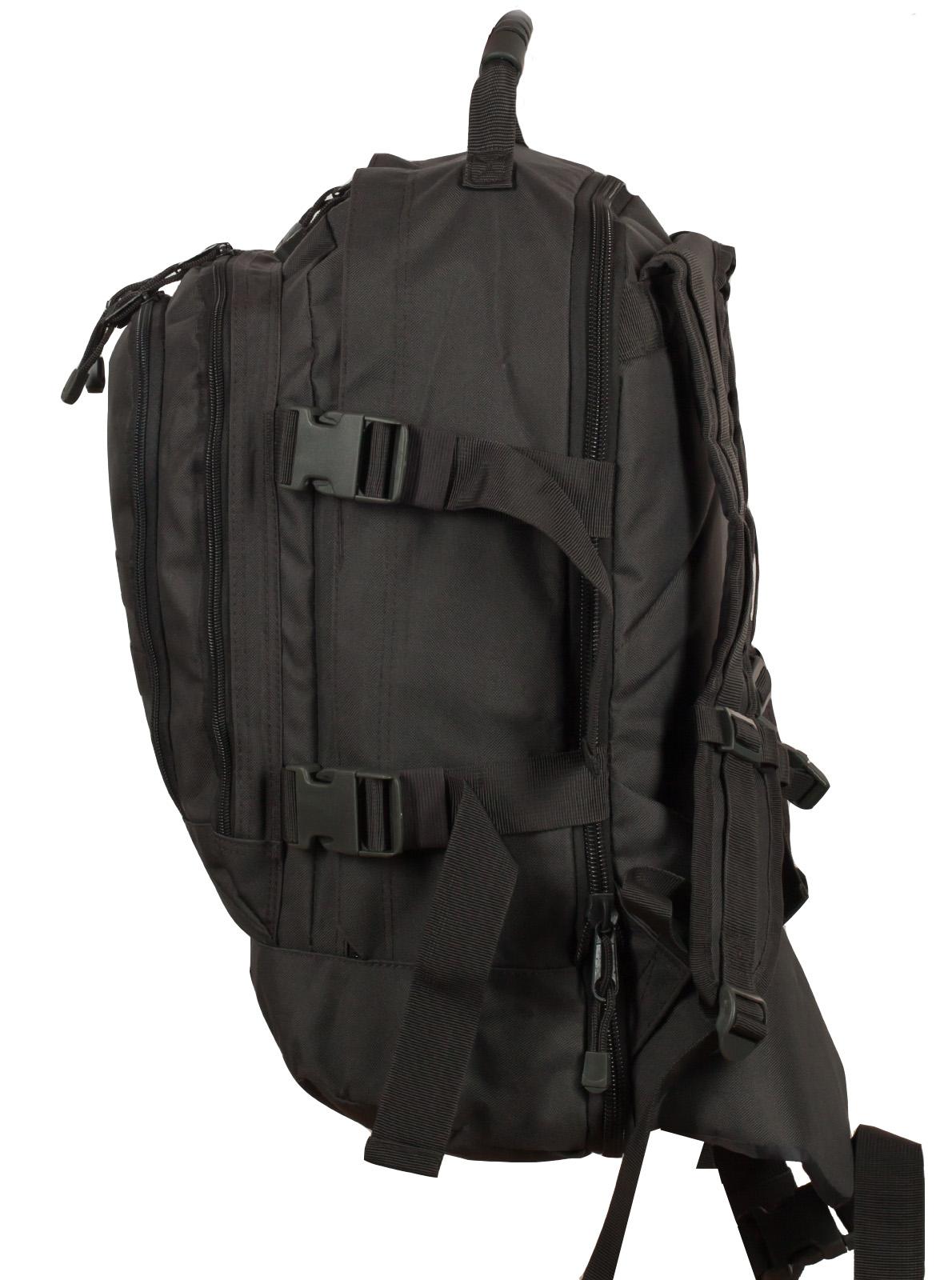 Универсальный рюкзак для города и полевых выходов 3-Day Expandable Backpack 08002A Dark Grey с эмблемой МВД заказать в Военпро