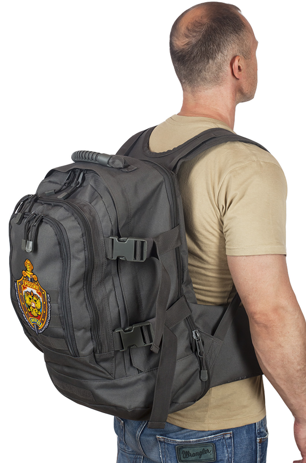 Универсальный рюкзак для города и полевых выходов 3-Day Expandable Backpack 08002A Dark Grey с эмблемой МВД