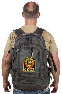 Универсальный рюкзак для города и полевых выходов 3-Day Expandable Backpack 08002A Dark Grey с эмблемой СССР